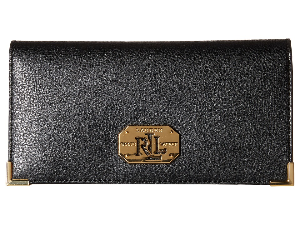 LAUREN by Ralph Lauren - Acadia Slim Wallet (Black) Wallet Handbags