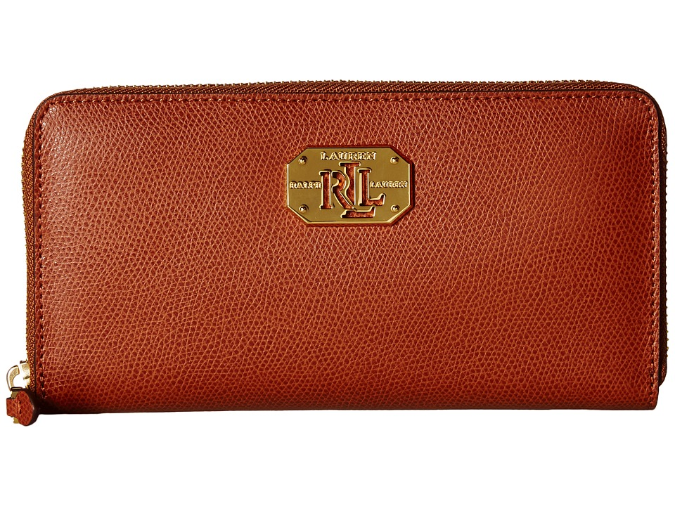LAUREN Ralph Lauren - Whitby Zip Wallet (Lauren Tan) Checkbook Wallet