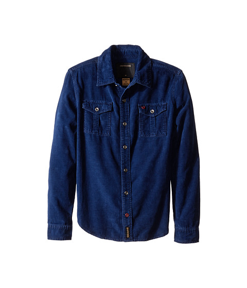True Religion Kids - Indigo Washed Down Corduroy Shirt (Big Kids) (Midnight) Boy