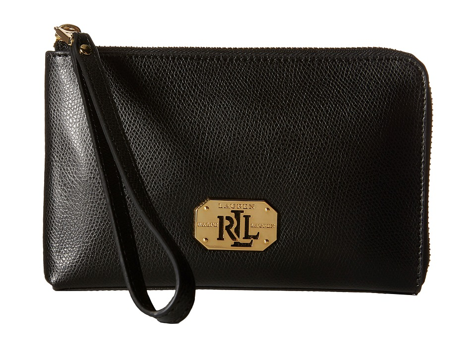LAUREN by Ralph Lauren - Whitby Large Wristlet (Black) Wristlet Handbags