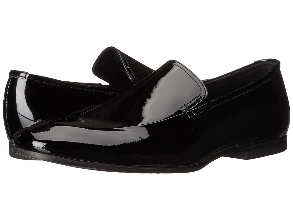Calvin Klein - Nicco (Black Patent Leather) Men's Slip on Shoes