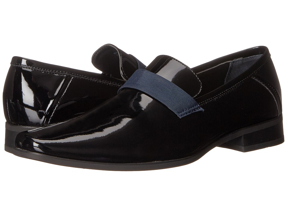 Calvin Klein - Bernard (Black/Dark Navy Patent/Nylon) Men's Shoes
