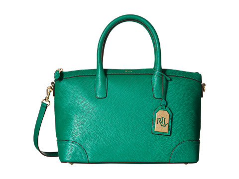 LAUREN by Ralph Lauren - Fairfield Satchel (Jewel Green) Satchel Handbags