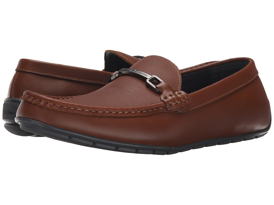 Calvin Klein - Isley (British Tan Leather) Men's Slip on Shoes