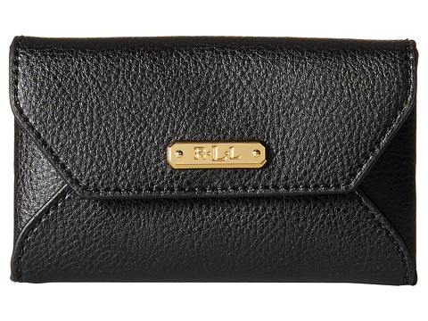 LAUREN by Ralph Lauren - Acadia Envelope Card Case (Black) Wallet