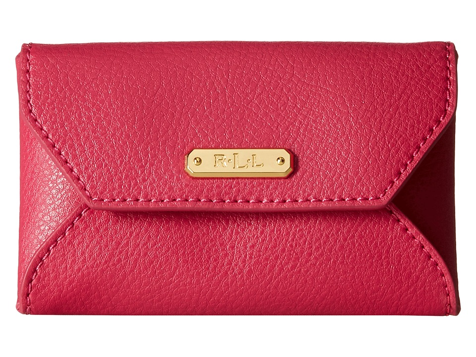 LAUREN by Ralph Lauren - Acadia Envelope Card Case (Bright Rose) Wallet