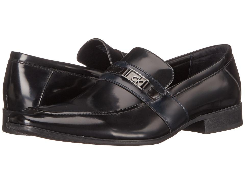 Calvin Klein - Bartley (Navy Brush-Off Smooth) Men's Shoes