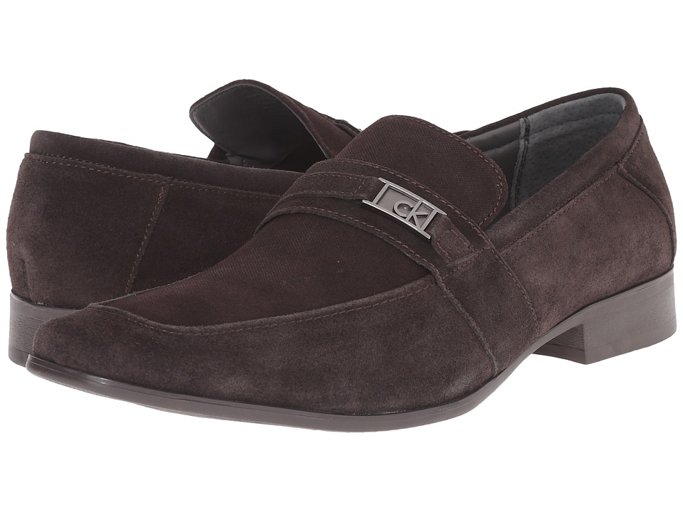 Calvin Klein Bartley (Dark Brown Suede) Men