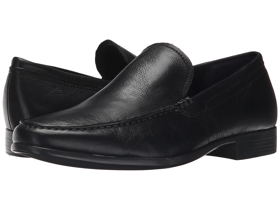 Calvin Klein - Landen (Black Tumbled Leather) Men's Slip on Shoes