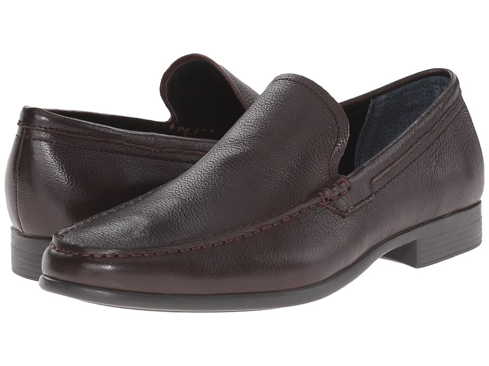 Calvin Klein Landen (Dark Brown Tumbled Leather) Men