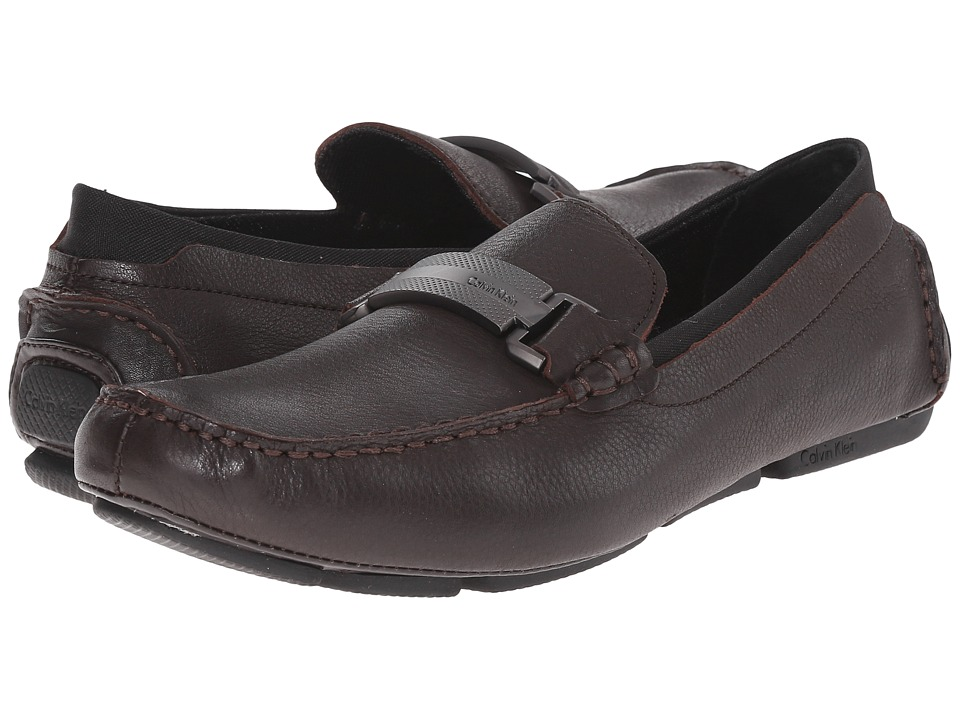 Calvin Klein Maxim (Dark Brown Tumbled Leather) Men