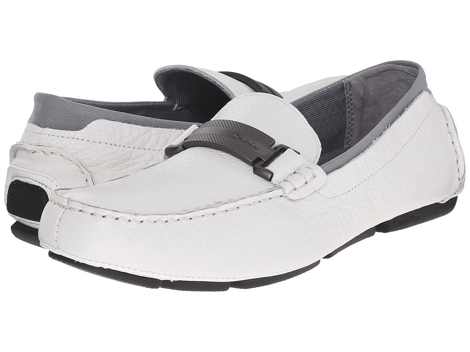 Calvin Klein Maxim (White Tumbled Leather) Men