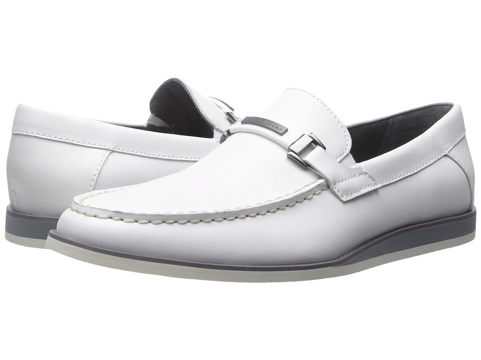 Calvin Klein - Kiley (White Emboss Leather) Men's Shoes