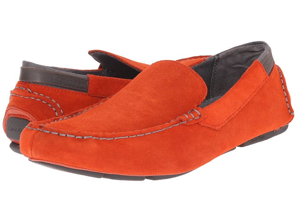 Calvin Klein - Maverick (Red Orange Suede) Men