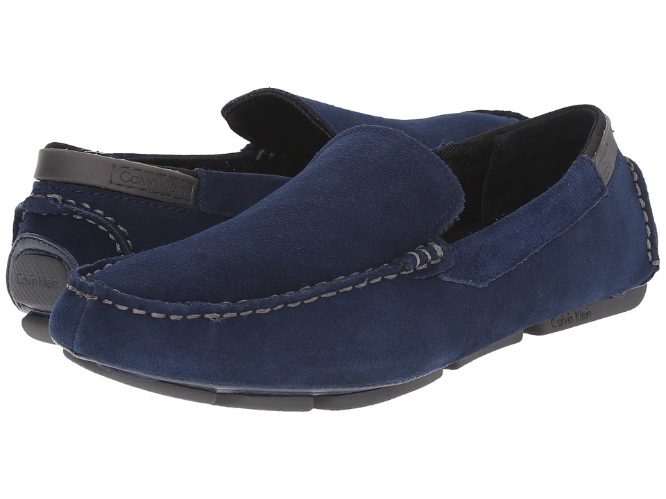 Calvin Klein - Maverick (Dark Navy Suede) Men's Slip on Shoes