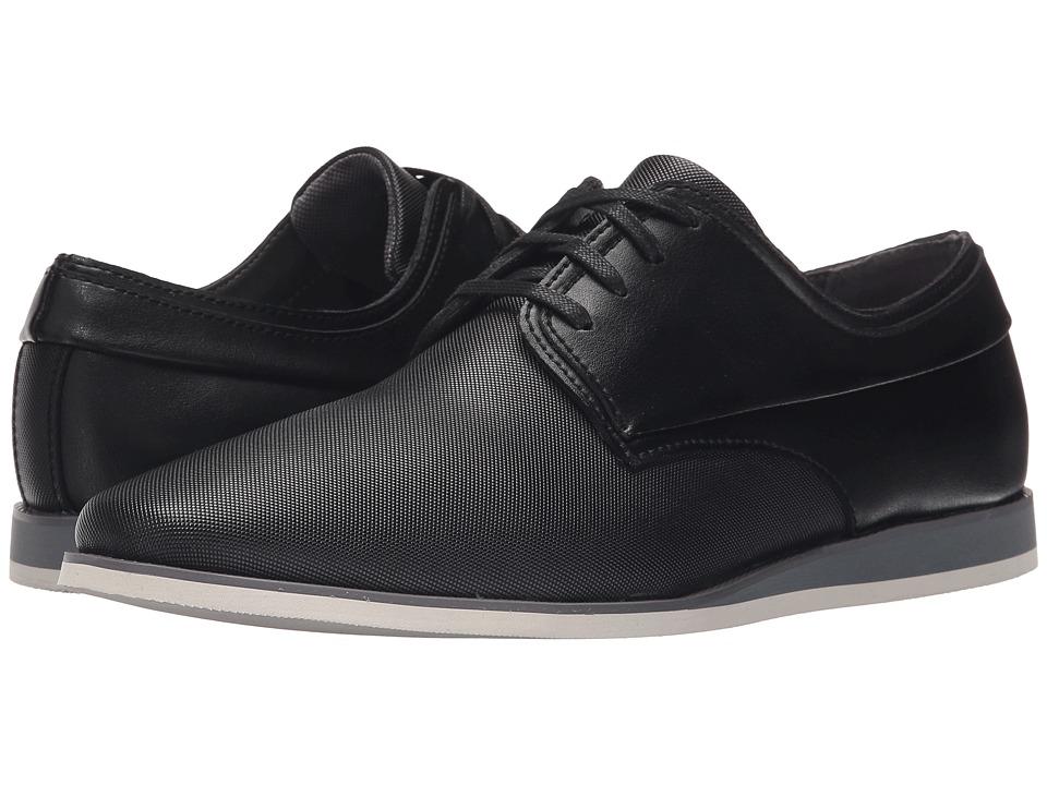 Calvin Klein Kellen (Black Emboss Leather) Men