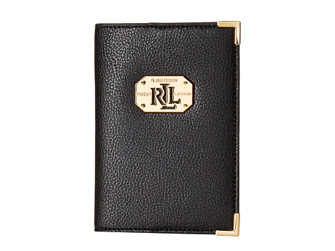 LAUREN by Ralph Lauren - Acadia Passport Case (Black) Wallet