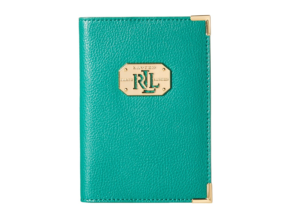 LAUREN by Ralph Lauren - Acadia Passport Case (Jewel Green) Wallet
