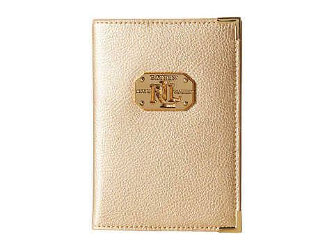 LAUREN by Ralph Lauren - Acadia Passport Case (Gold Rush) Wallet