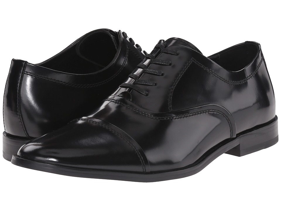 Calvin Klein - Nino (Black Brush-Off Leather) Men's Plain Toe Shoes