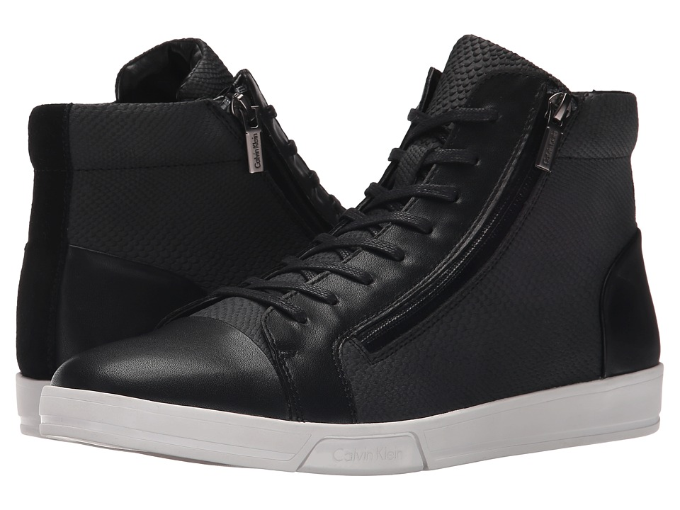 Calvin Klein Berke (Black Emboss Leather) Men