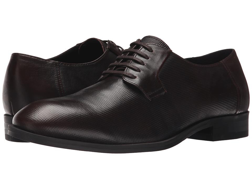 Calvin Klein - Shayne (Brown Stud Emboss Leather) Men