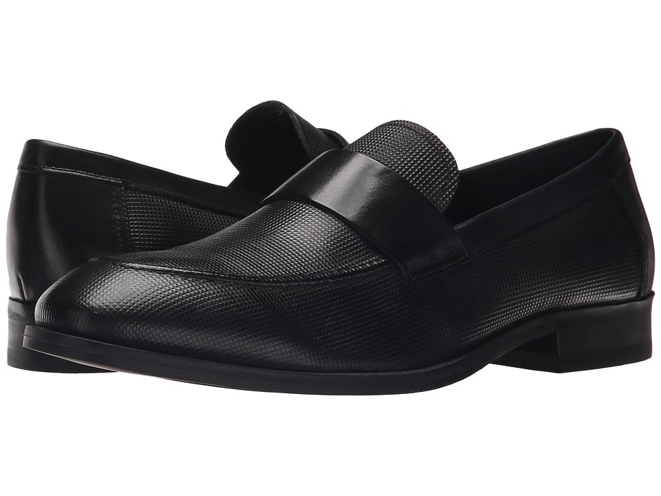 Calvin Klein Sergio (Black Stud Emboss Leather) Men