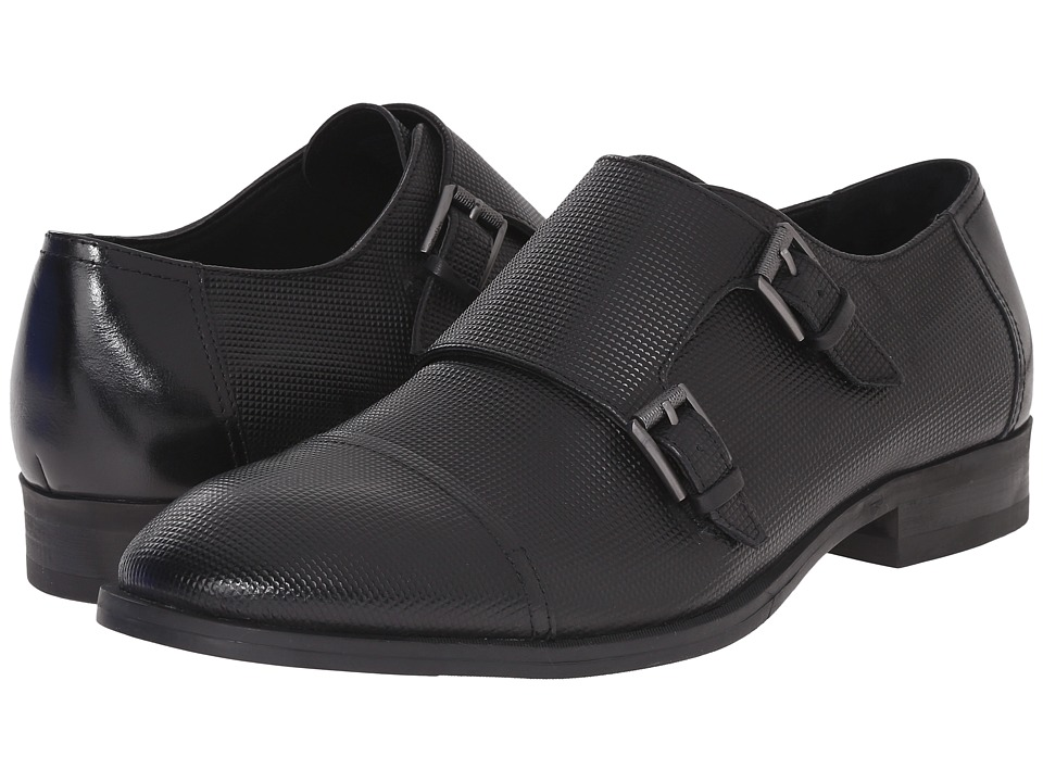 Calvin Klein Sheen (Black Stud Emboss Leather) Men