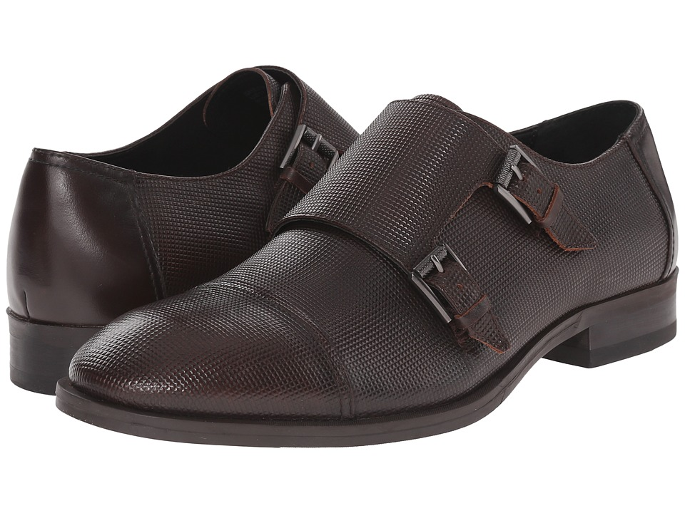 Calvin Klein Sheen (Brown Stud Emboss Leather) Men