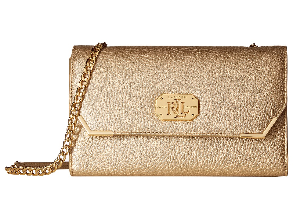 LAUREN by Ralph Lauren - Acadia Mini Crossbody (Gold Rush) Cross Body Handbags