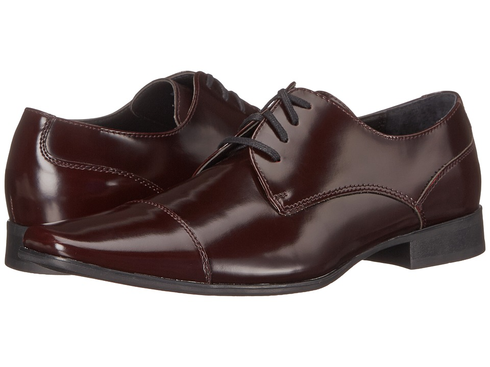 Calvin Klein - Bram (Burgundy Brush-Off Smooth) Men's Lace up casual Shoes