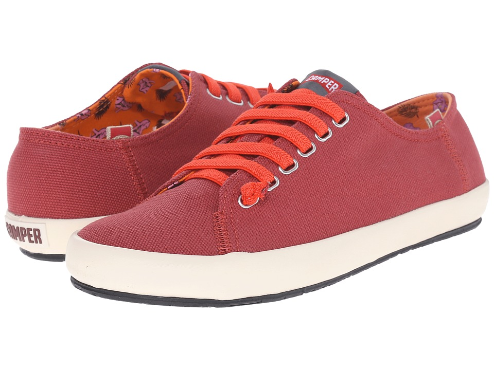 Camper - Peu Rambla Vulcanizado - 18869 (Medium Red) Men's Lace up casual Shoes