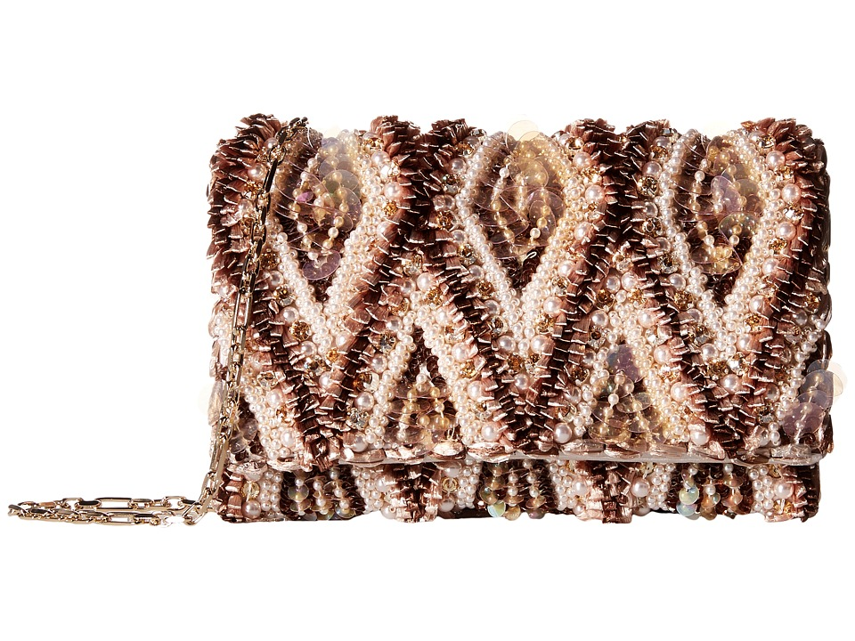 Oscar de la Renta - Petitie Evening Bag (Multi Satin/Raffia) Evening Handbags
