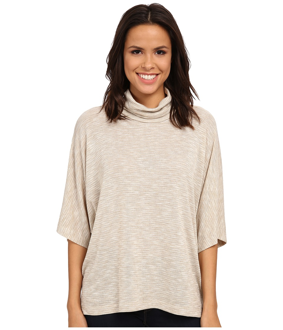 B Collection by Bobeau - Cowl Shimmer Poncho Knit (Natural) Women's Sweater