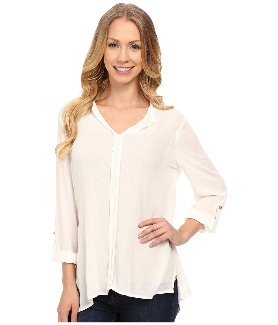 B Collection by Bobeau - Pleat Back Woven Blouse (Ivory) Women's Blouse