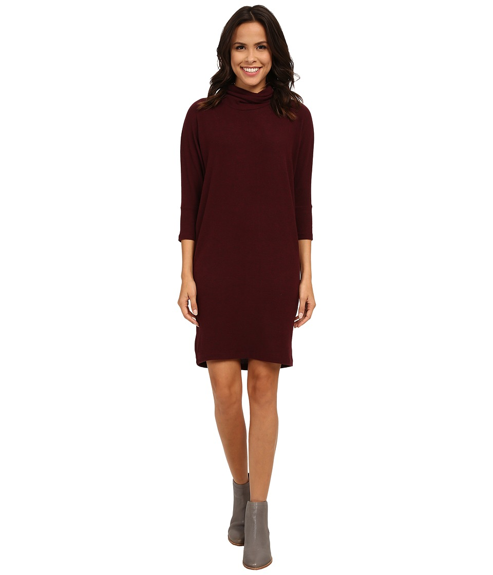 B Collection by Bobeau - Cozy Dress (Burgundy) Women's Dress
