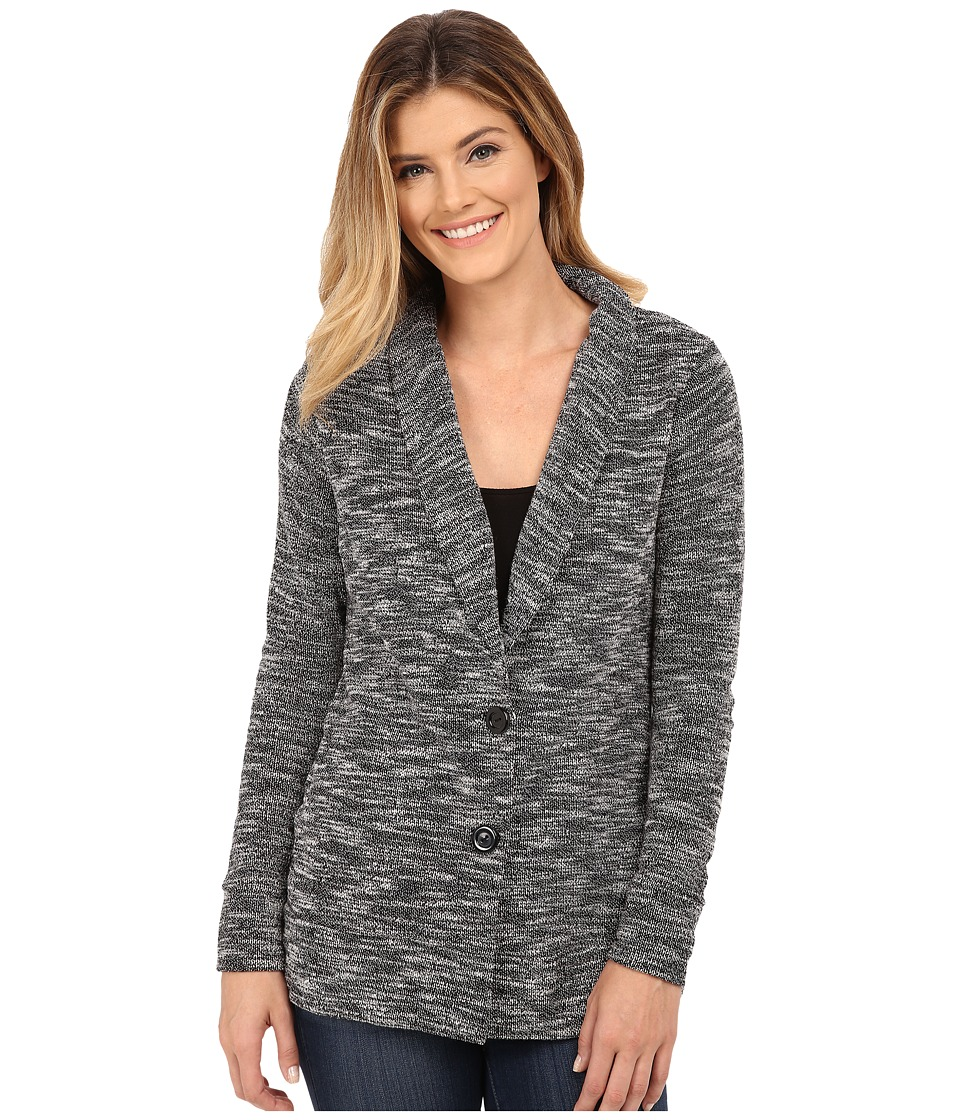 B Collection by Bobeau - Single Breasted Textured Jacket (Grey Mix) Women's Coat
