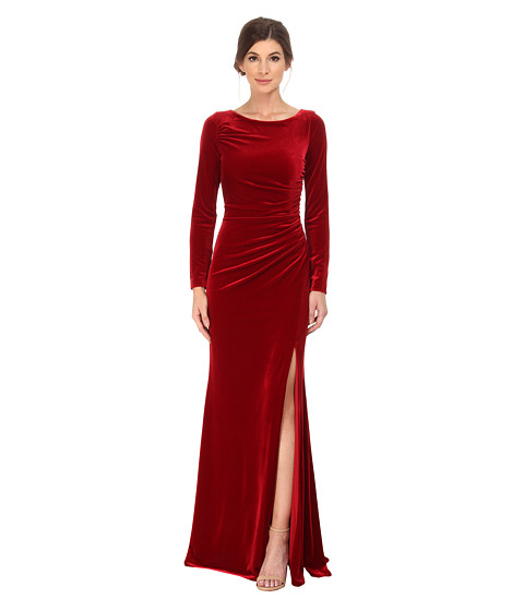 Upc 884922716474 Badgley Mischka Long Sleeve Stretch Velvet Gown