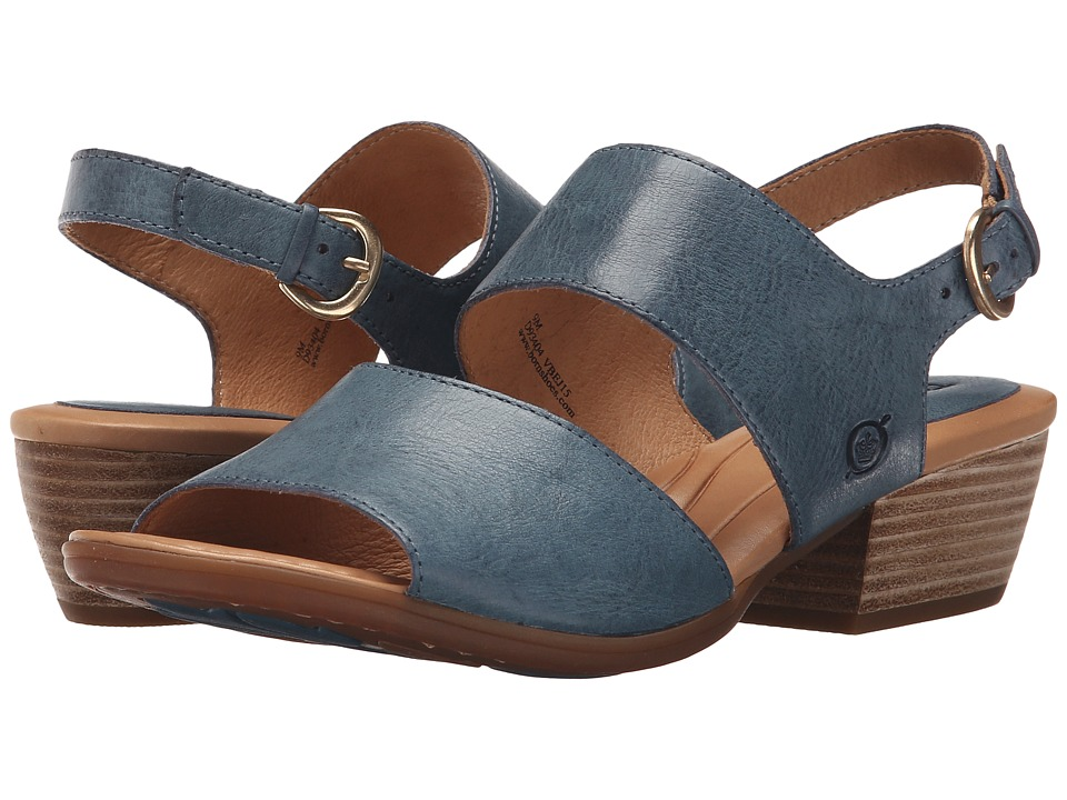 Born - Ahna (Azzurro Full Grain Leather) Women