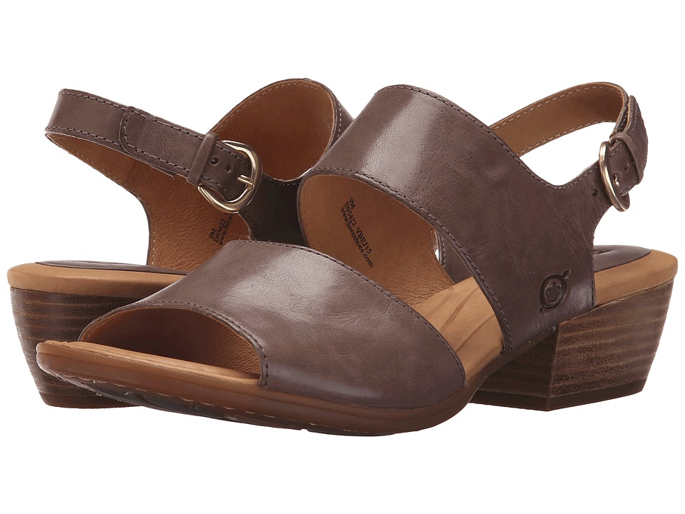 Born - Ahna (Grigio Full Grain Leather) Women's 1-2 inch heel Shoes