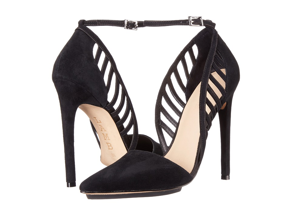 L.A.M.B. - Playful (Black Suede) High Heels