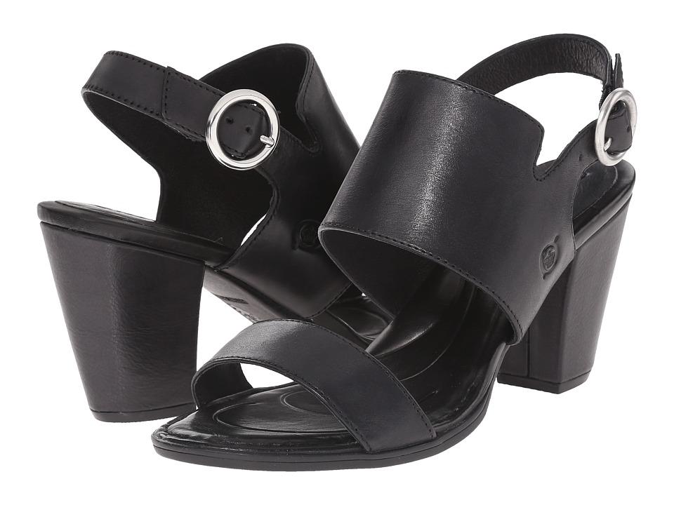 Born Cindie (Black Full Grain Leather) Women