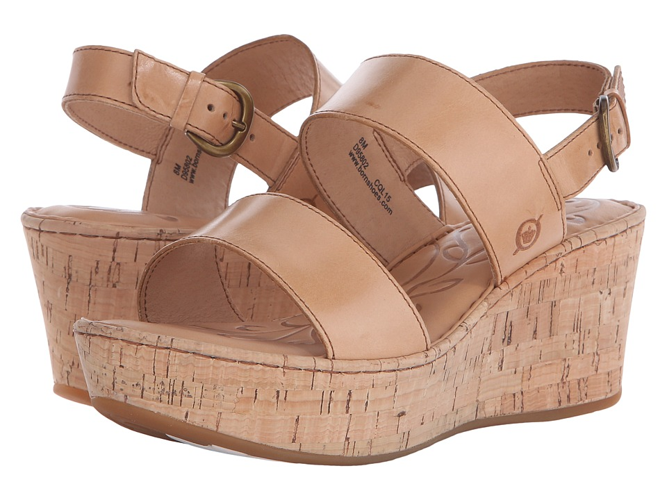 Born - Metzger (Natural Full Grain Leather) Women's Wedge Shoes