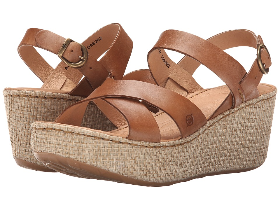 Born - Tera (Tan Full Grain Leather) Women's Wedge Shoes