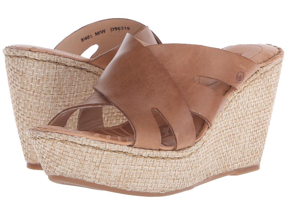Born - Ilara (Tan Full Grain Leather) Women's Wedge Shoes