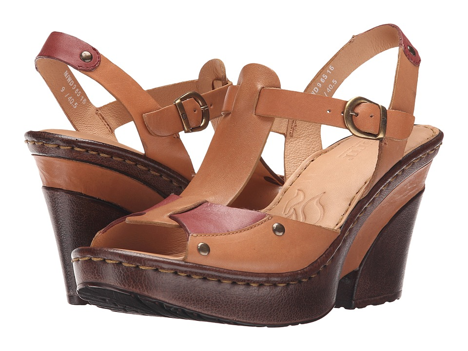 Born - Blintz (Tan/Pink Full Grain Leather) High Heels