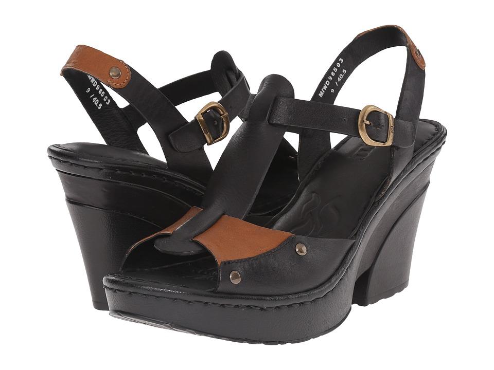 Born - Blintz (Black/Luggage Full Grain Leather) High Heels