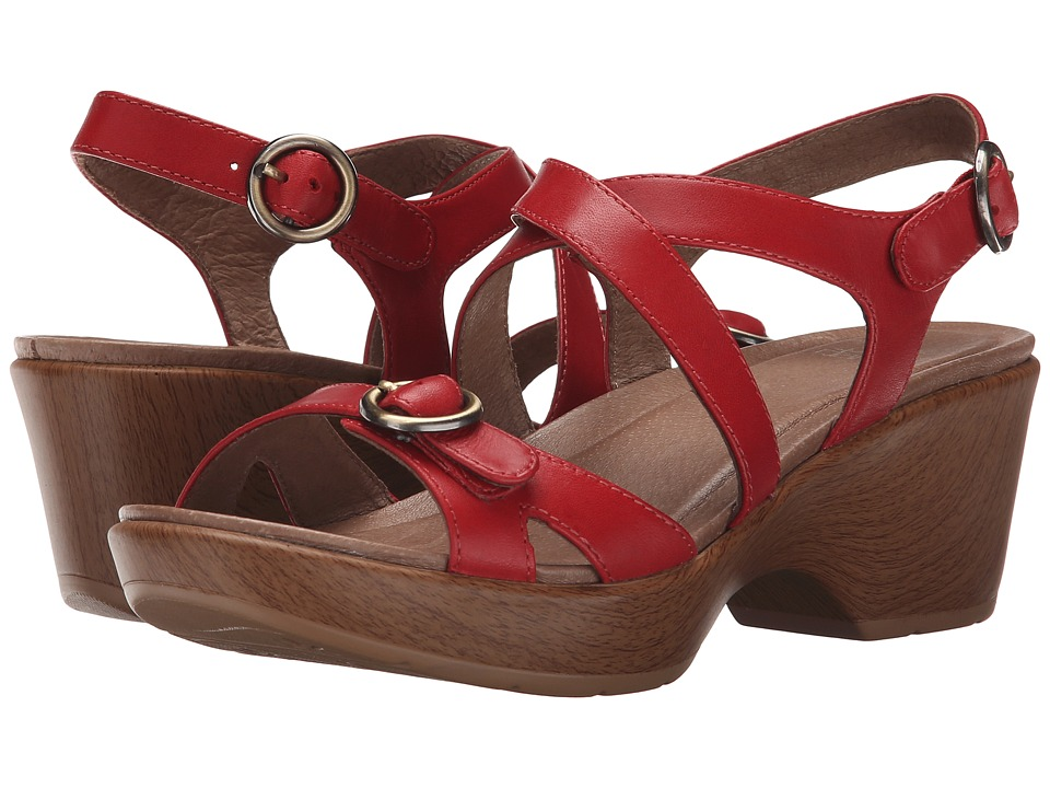 Dansko - Julie (Red Full Grain) Women