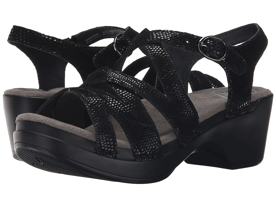 Dansko - Stevie (Black Lizard) Women's Sandals