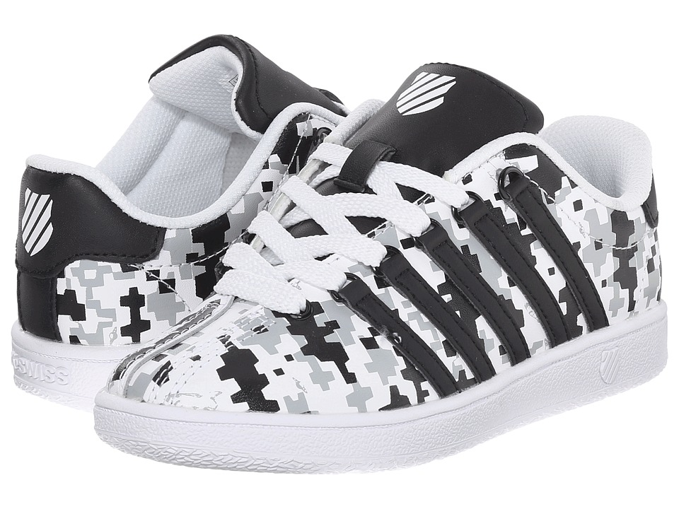 K-Swiss Kids - Classic VN (Little Kid) (Space Camo/Black/White Leather) Boys Shoes